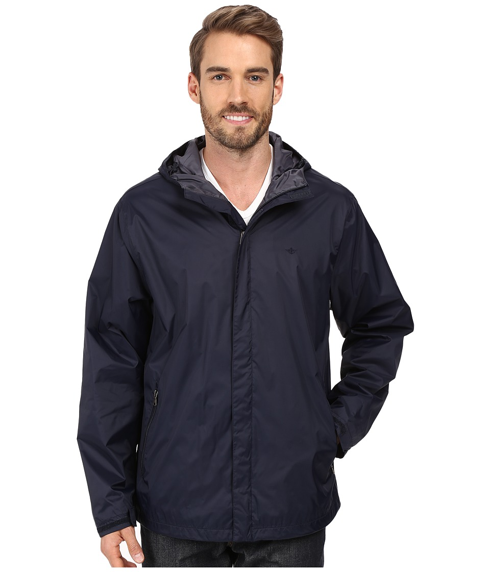 Dockers - Lightweight Rain Hoodie (Navy) Men's Sweatshirt