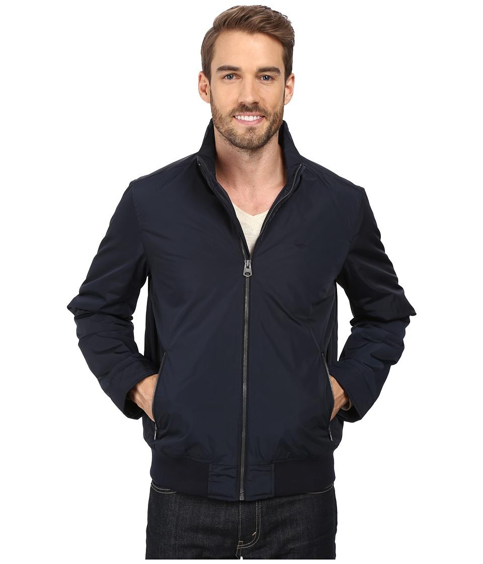 Dockers - Stand Collar Bomber w/ Lower Zipper Pockets (Navy) Men's Coat