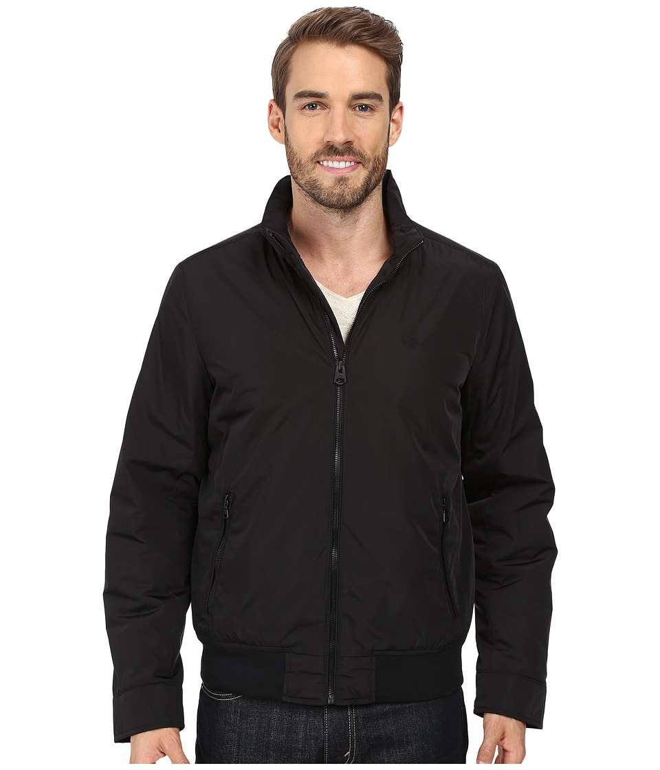 Dockers - Stand Collar Bomber w/ Lower Zipper Pockets (Black) Men's Coat