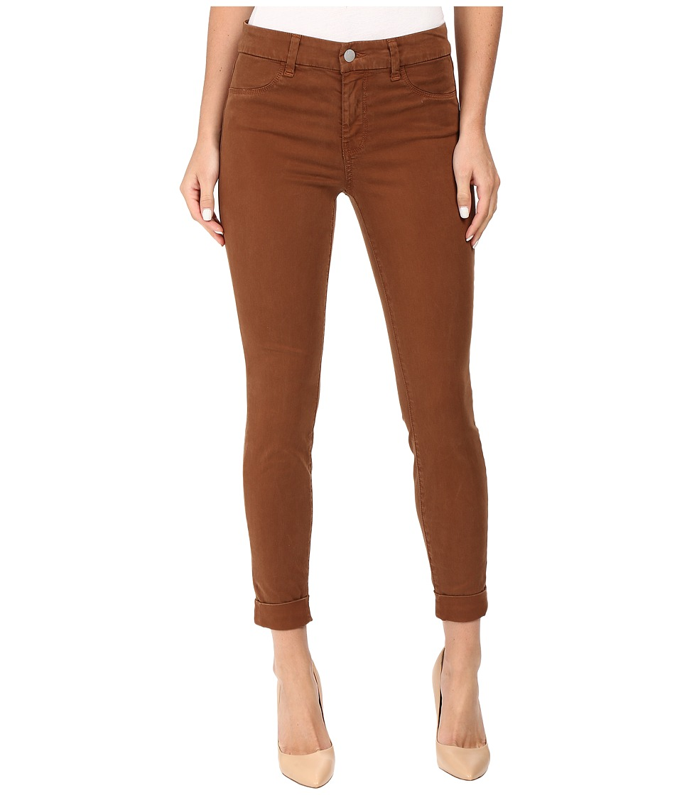 J Brand - Anja Clean Cuffed Crop in Burnt Umber (Burnt Umber) Women's Jeans