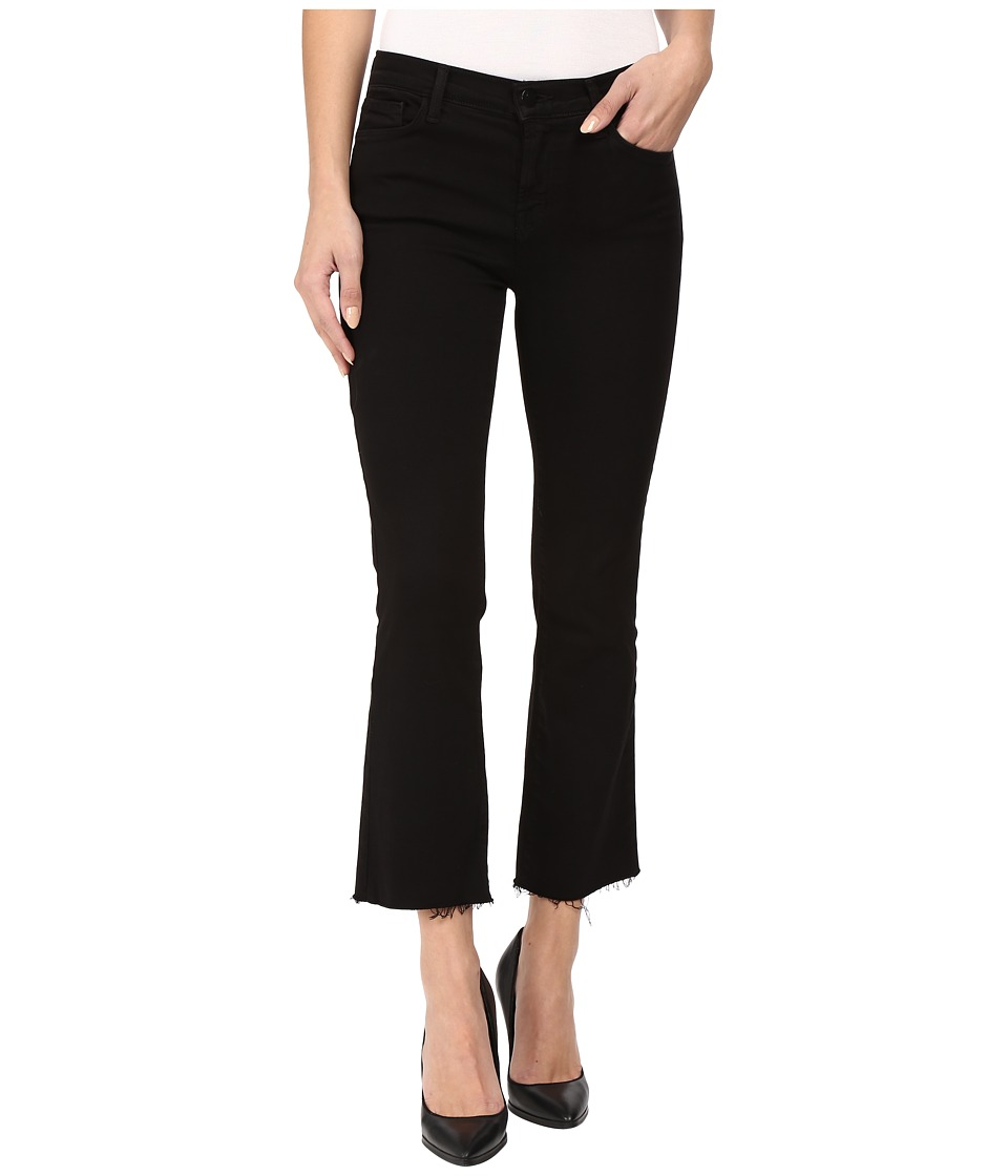 J Brand - Selena Mid-Rise Crop Bootcut in Black Bastille (Black Bastille) Women's Jeans