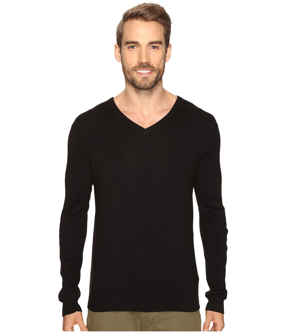 Calvin Klein - Cotton Modal V-Neck Sweater (Black) Men's Sweater