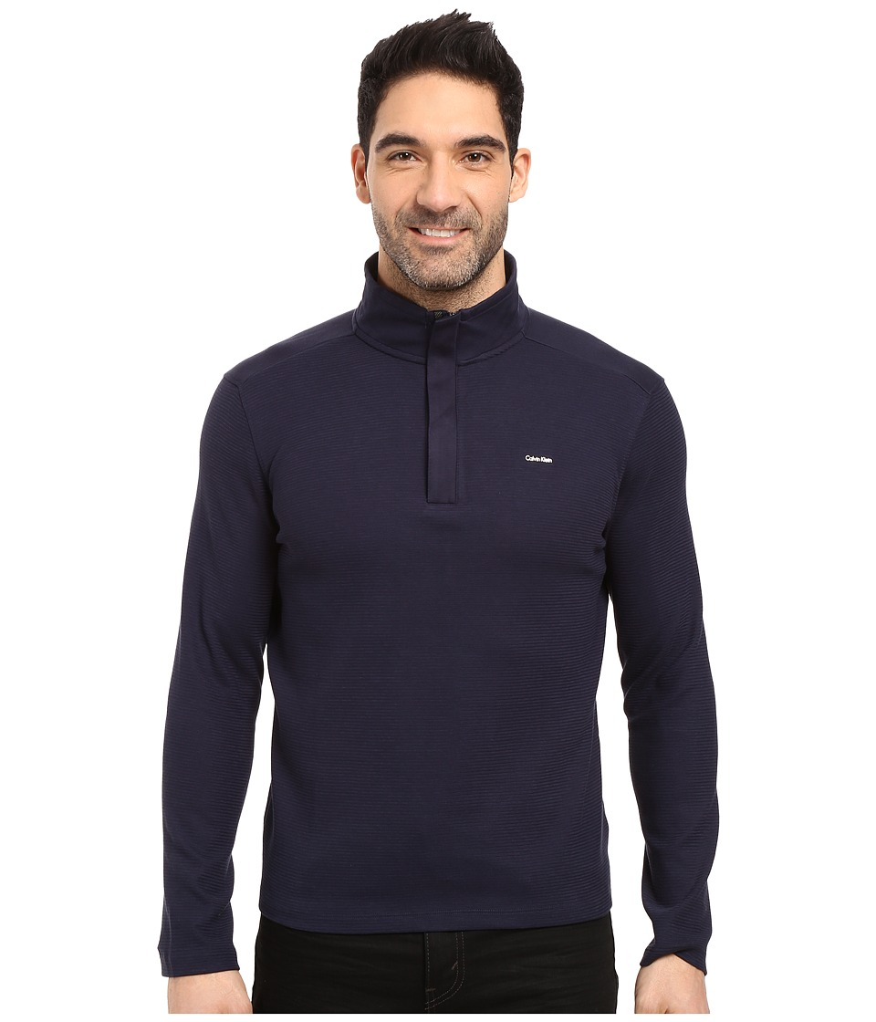 Calvin Klein - Long Sleeve Solid SZ Mock Neck (Cadet Navy) Men's Clothing