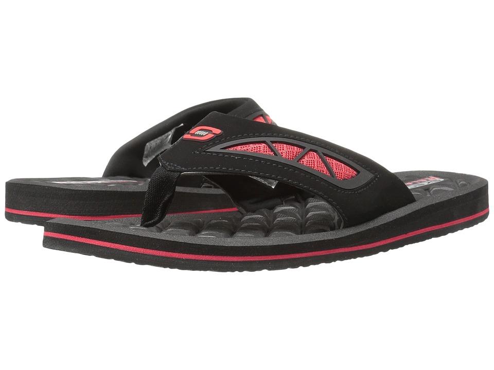 SKECHERS - Benny (Black/Red) Men's Sandals
