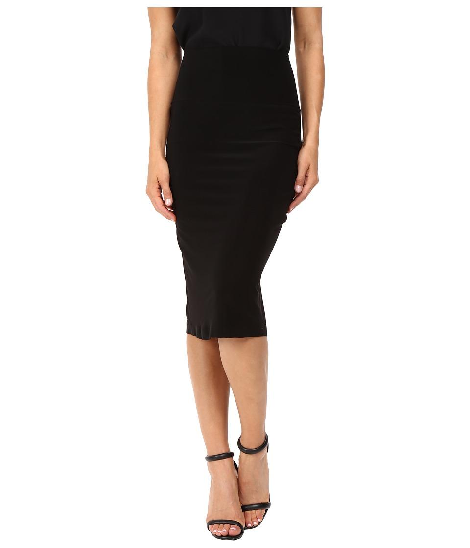 KAMALIKULTURE by Norma Kamali Straight Skirt (Black) Women