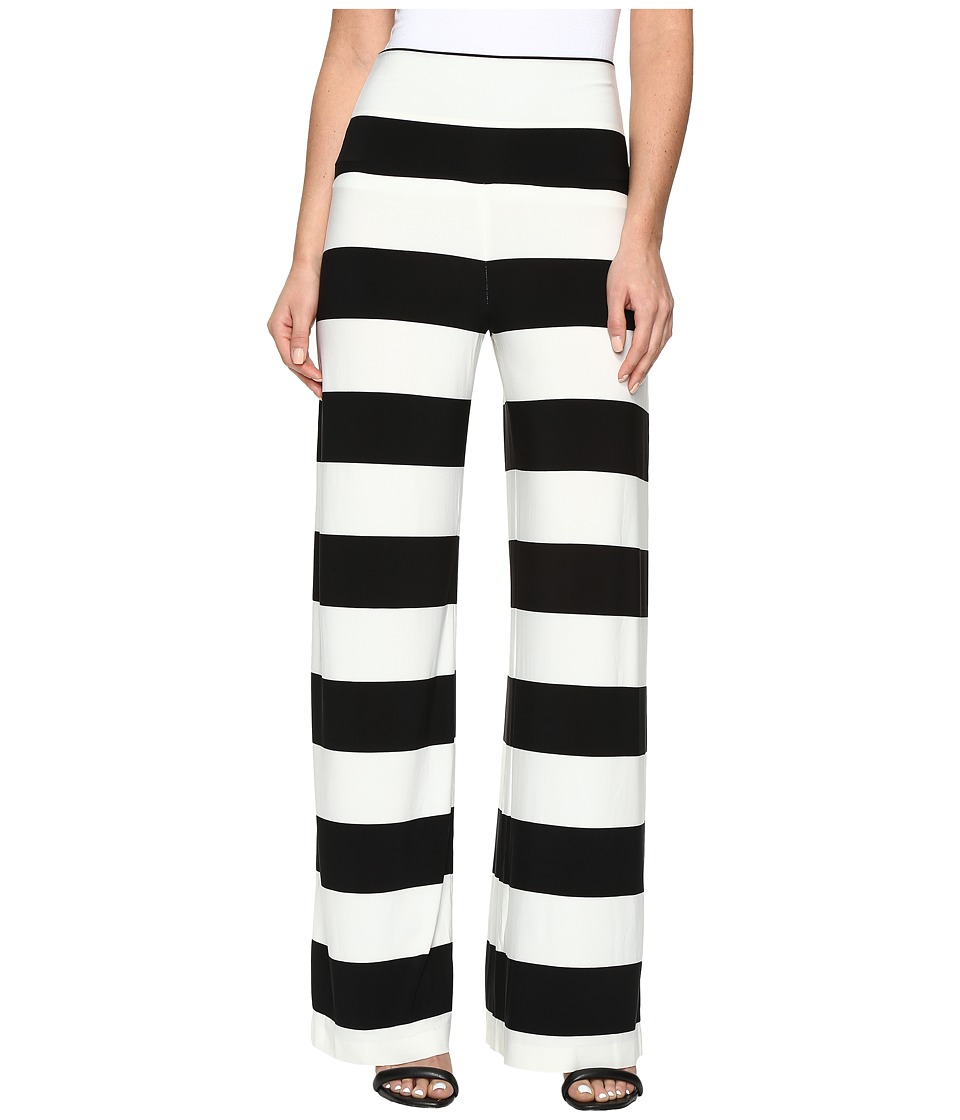 KAMALIKULTURE by Norma Kamali - Straight Leg Pants Go (3 Ivy/Black Stripe) Women's Casual Pants