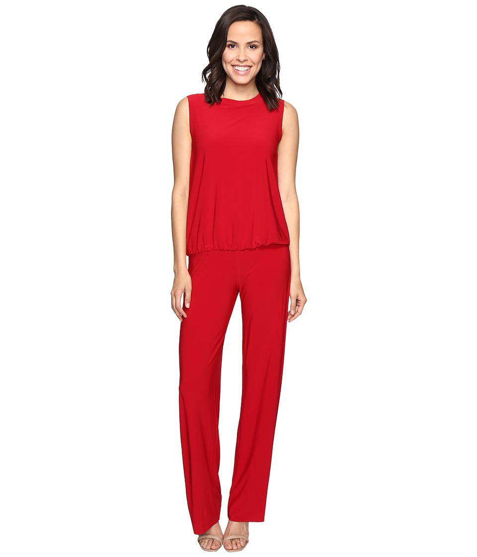 KAMALIKULTURE by Norma Kamali - Sleeveless Babydoll Jumpsuit (Red) Women's Jumpsuit & Rompers One Piece