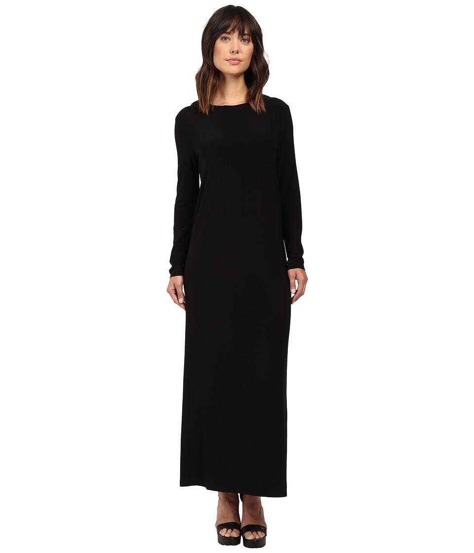 KAMALIKULTURE by Norma Kamali - Long Sleeve Crew Gown (Black) Women's Dress