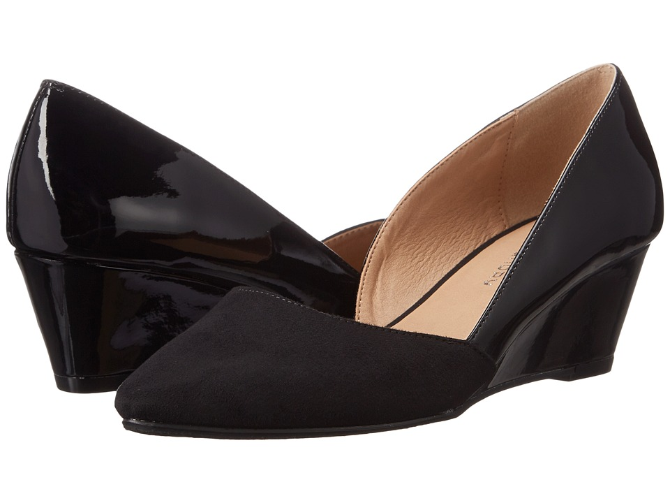 CL By Laundry Tracie (Black/Black Suede Patent) Women
