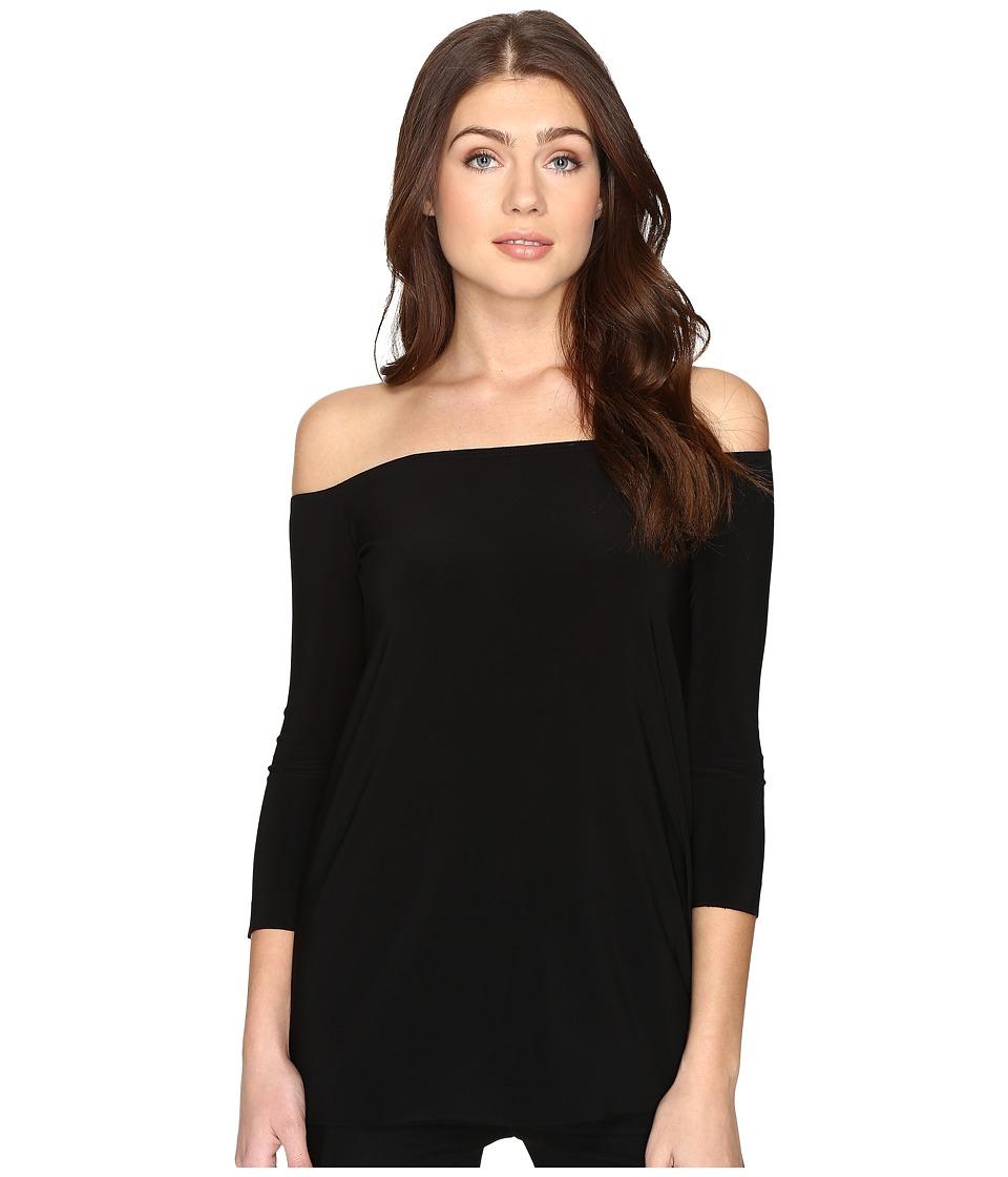 KAMALIKULTURE by Norma Kamali - Off Shoulder Top (Black) Women's Clothing