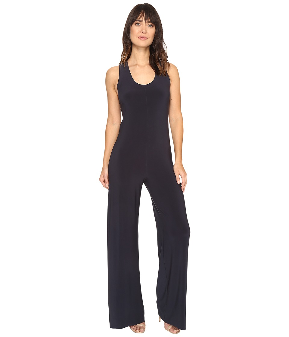 KAMALIKULTURE by Norma Kamali - Racer Jumpsuit (Pewter) Women's Jumpsuit & Rompers One Piece