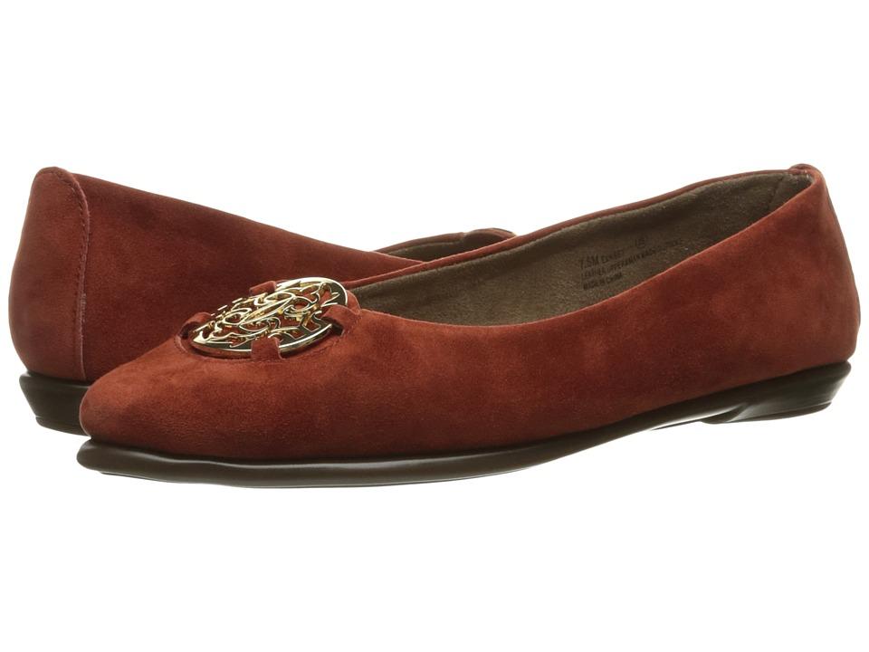 Aerosoles - Exhibet (Dark Orange Suede) Women's Shoes