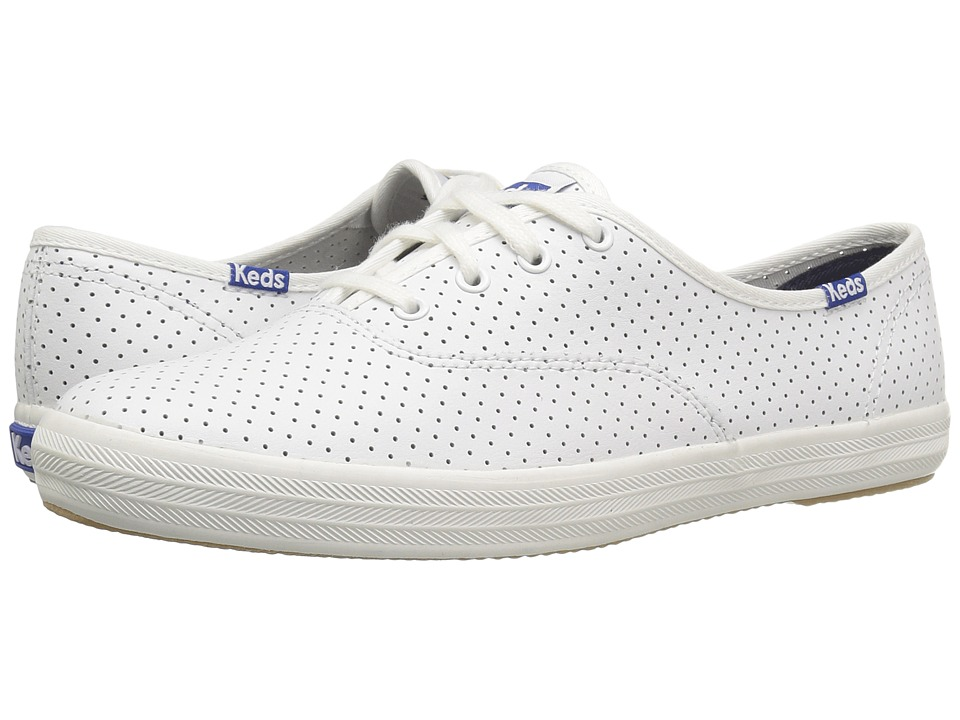 Keds - Champ Perf Leather (White) Women's Shoes