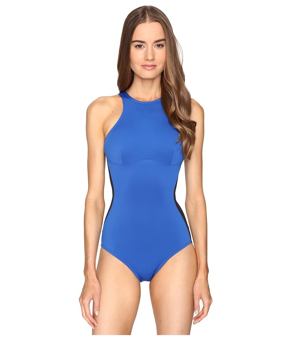 Stella McCartney - Stella Iconic One-Piece (Black/Royal Blue) Women's Swimsuits One Piece