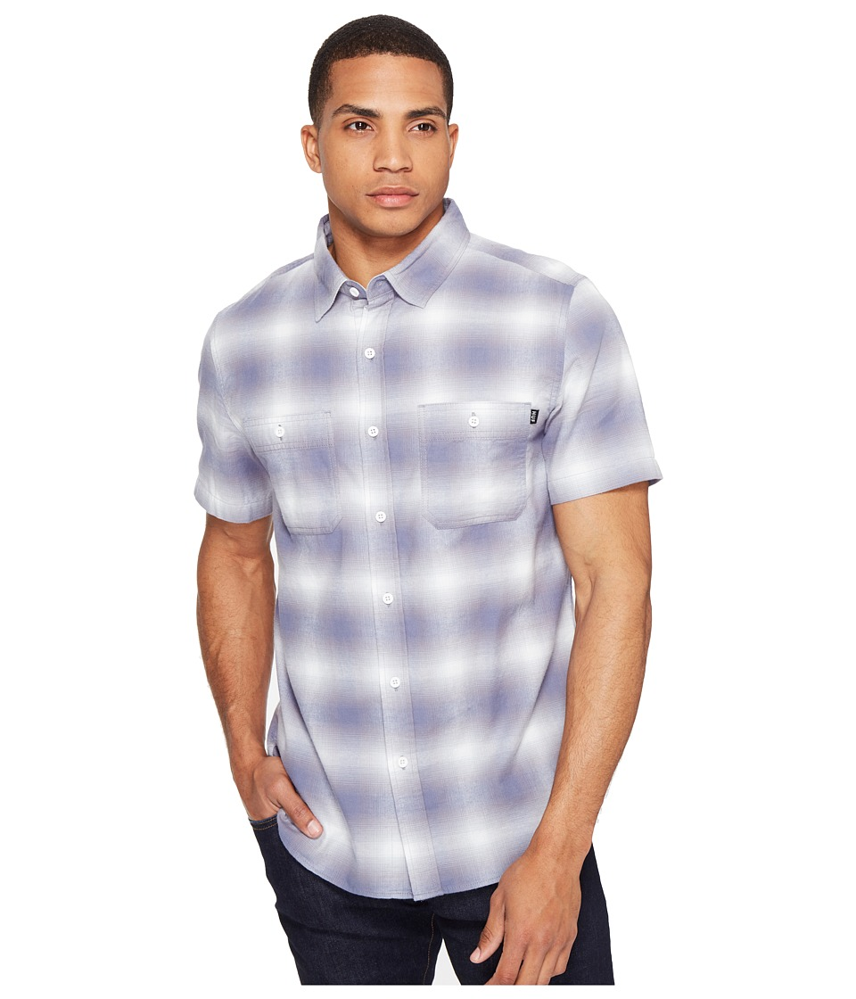 HUF - Ombre Plaid Short Sleeve Shirt (Grey) Men's Clothing