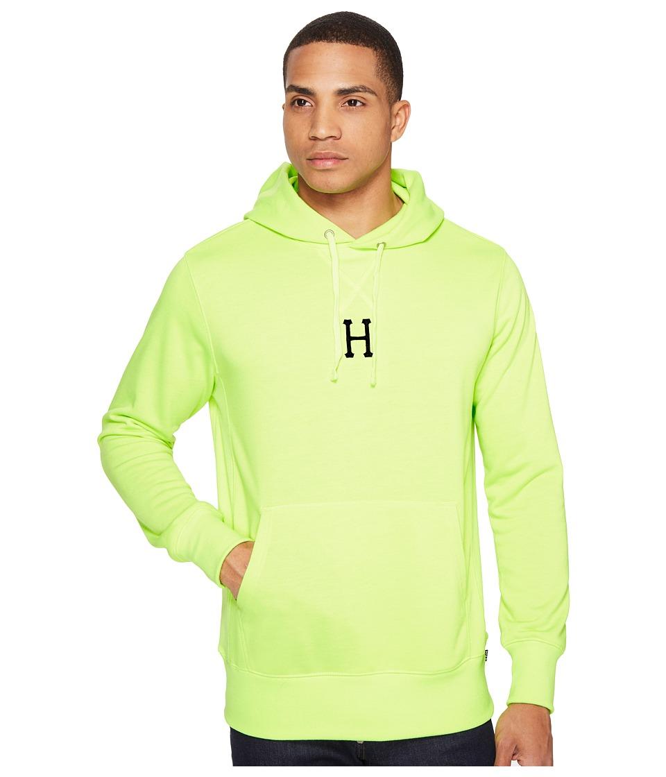 HUF - State Pullover Hoodie (Fluoro Yellow) Men's Sweatshirt