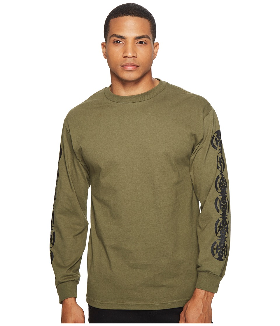 HUF - Baser Long Sleeve Tee (Olive) Men's T Shirt