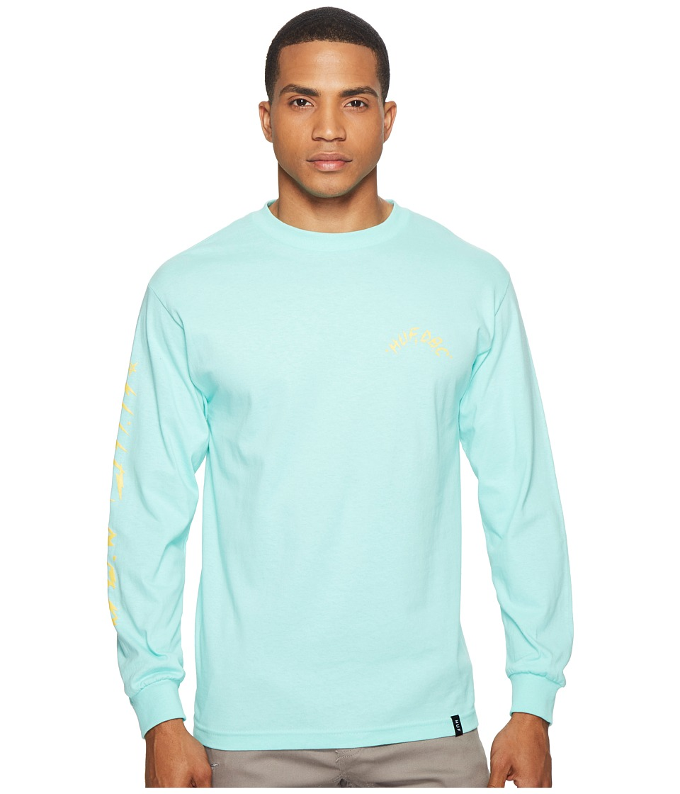 HUF - Bolts Long Sleeve Tee (Celadon) Men's T Shirt