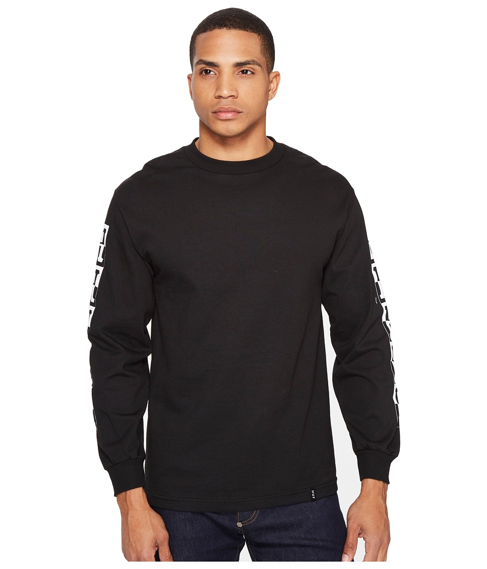 HUF - Inverse H Long Sleeve Tee (Black) Men's T Shirt