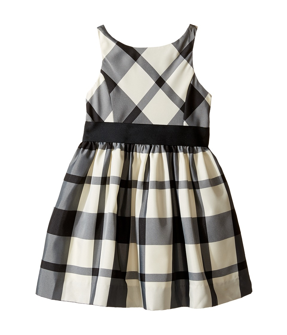 Polo Ralph Lauren Kids - Poly Taffeta Plaid Fit and Flare Dress (Toddler) (Black/Cream) Girl's Dress