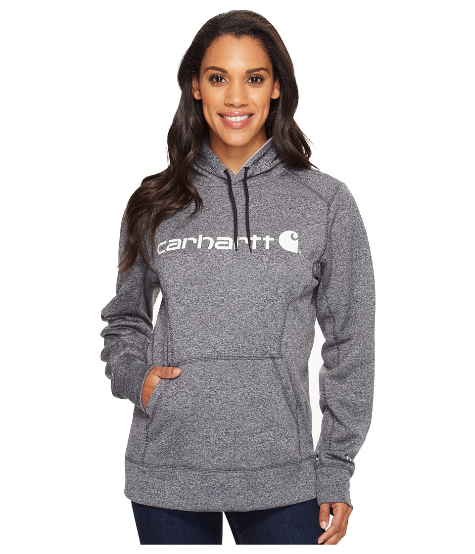 Carhartt - Force Extremes Signature Graphic Hooded Sweatshirt (Black Heather) Women's Sweatshirt