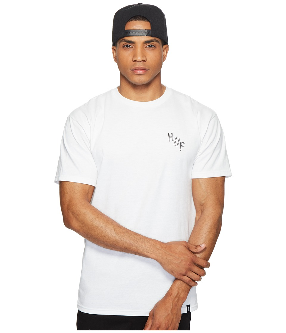 HUF - Broken Record Tee (White) Men's T Shirt