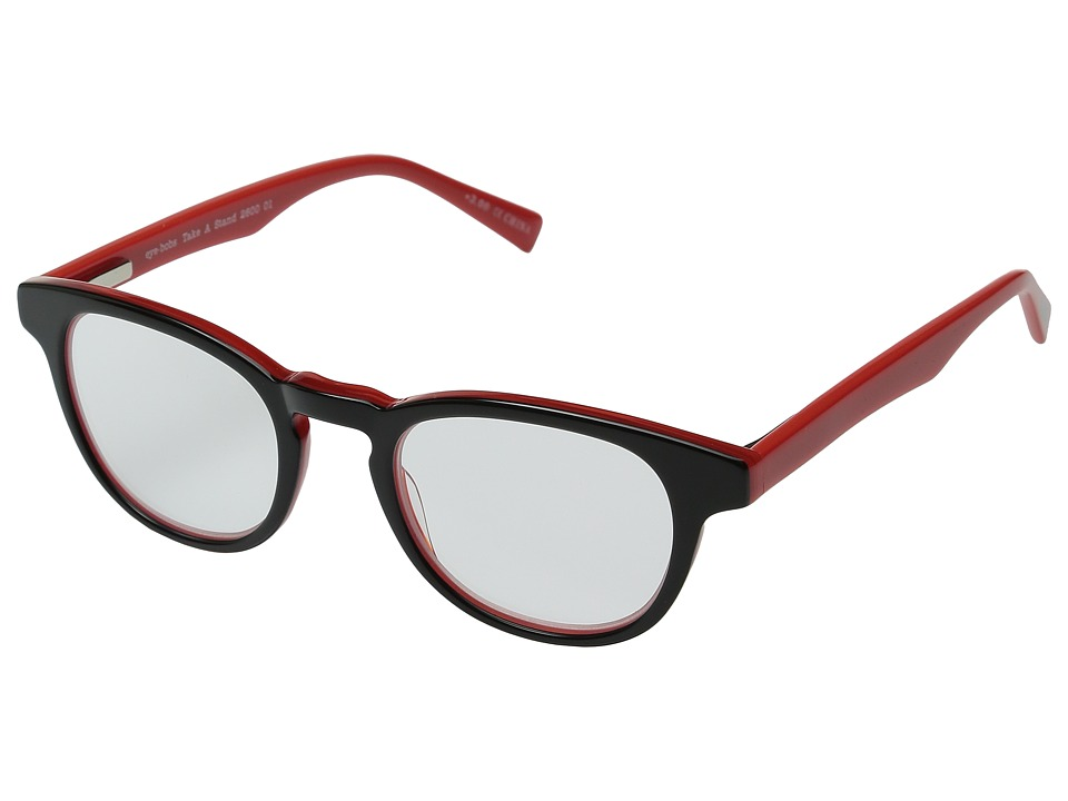 eyebobs - Take a Stand Readers (Black/Red) Reading Glasses Sunglasses