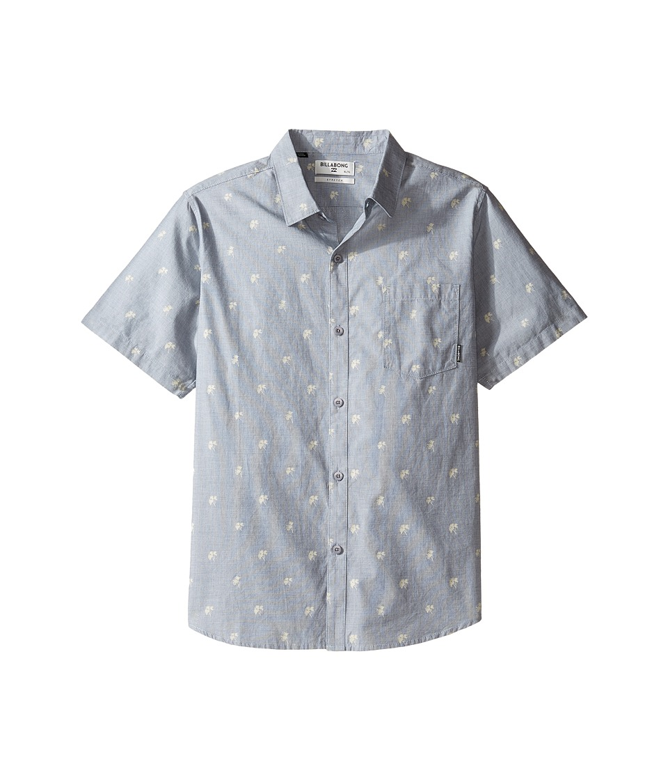 Billabong Kids - Marker Short Sleeve Shirt (Big Kids) (Chambray) Boy's Short Sleeve Button Up