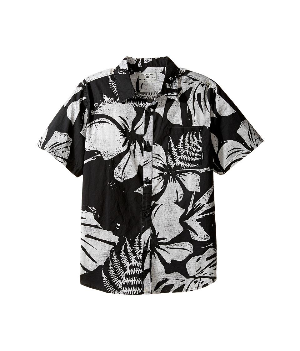 Billabong Kids - Tropics Short Sleeve Shirt (Big Kids) (Stealth) Boy's Short Sleeve Button Up