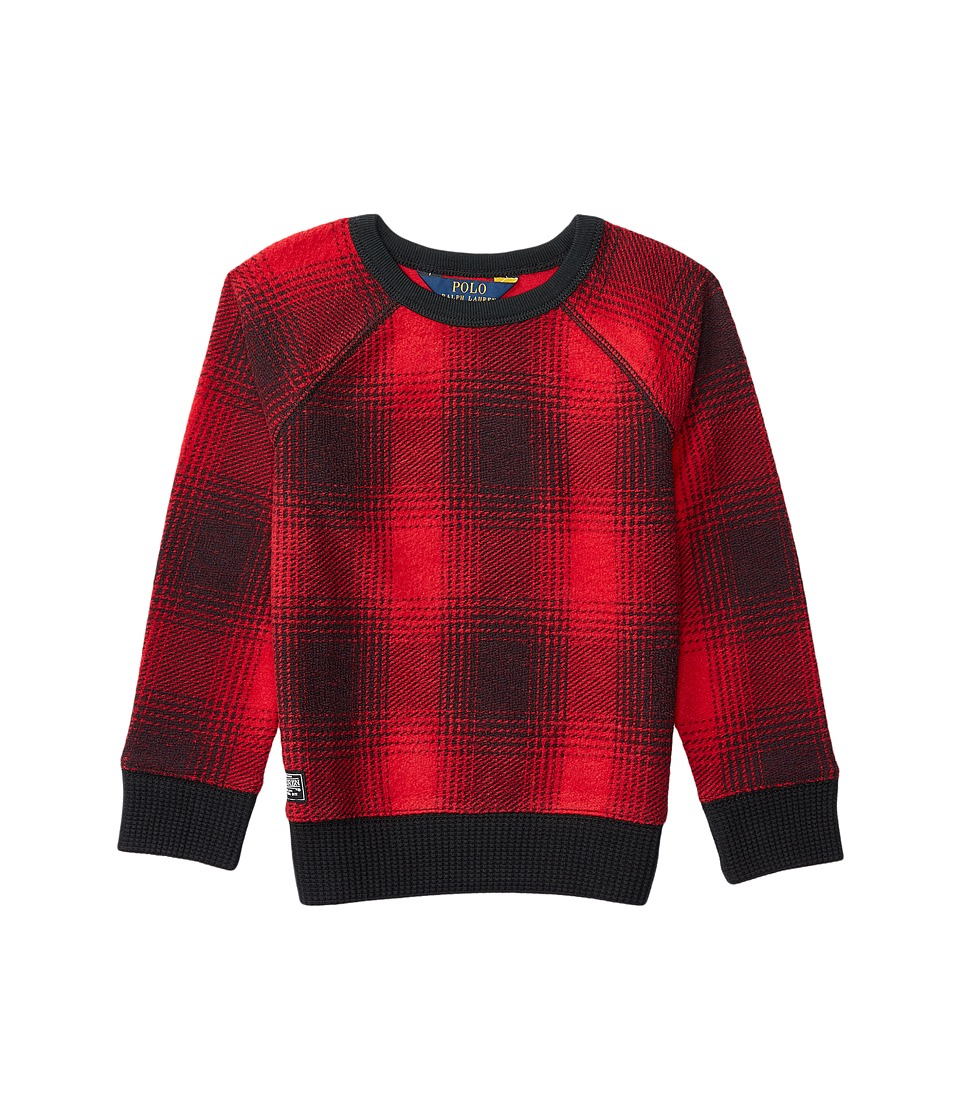 Polo Ralph Lauren Kids - Printed Shirt (Toddler) (Red/Black) Girl's Clothing