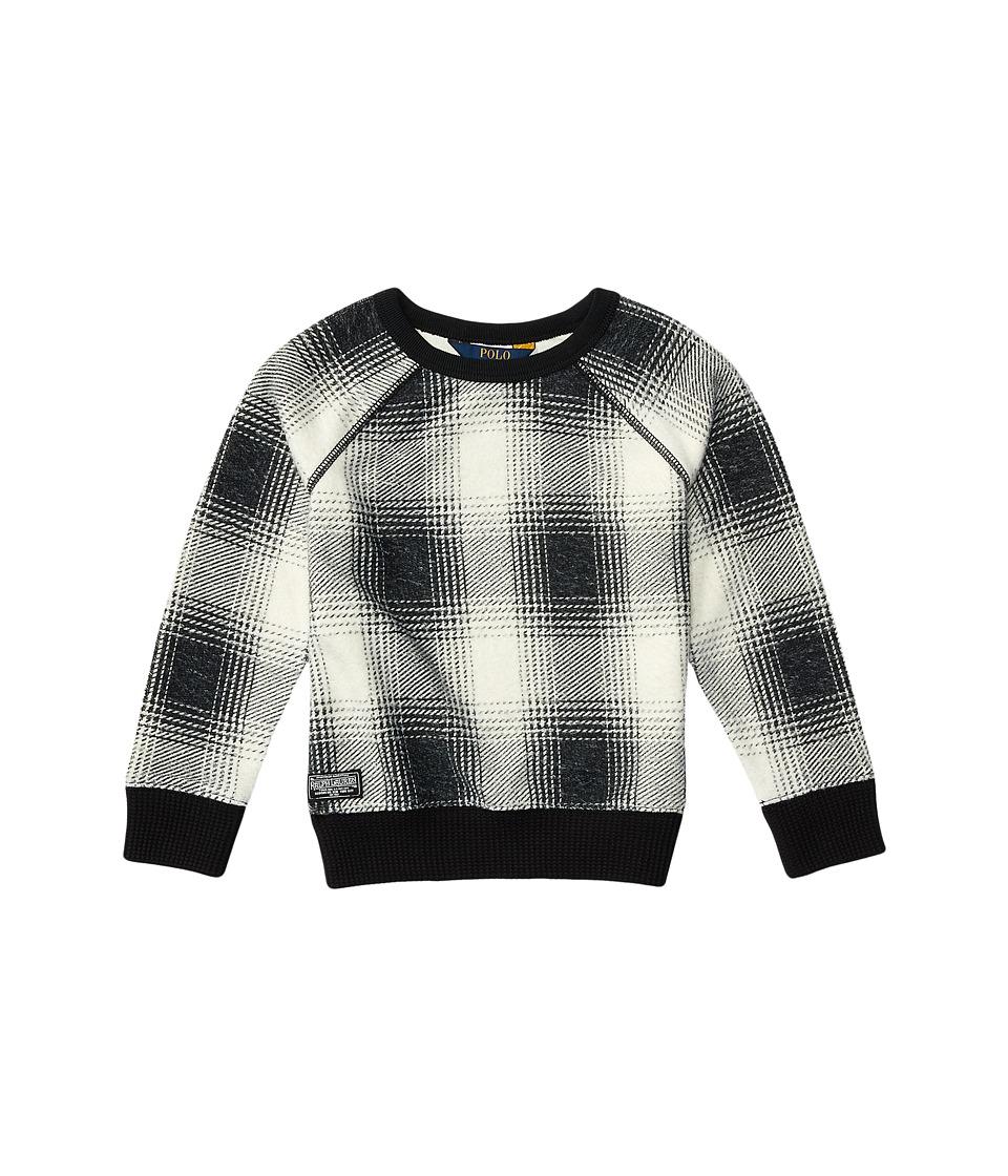 Polo Ralph Lauren Kids - Printed Shirt (Toddler) (Cream/Black) Girl's Clothing