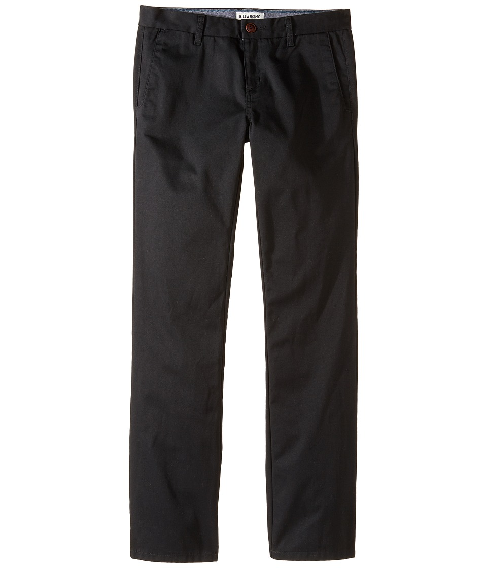Billabong Kids - Carter Chino Pants (Big Kids) (Black) Boy's Casual Pants