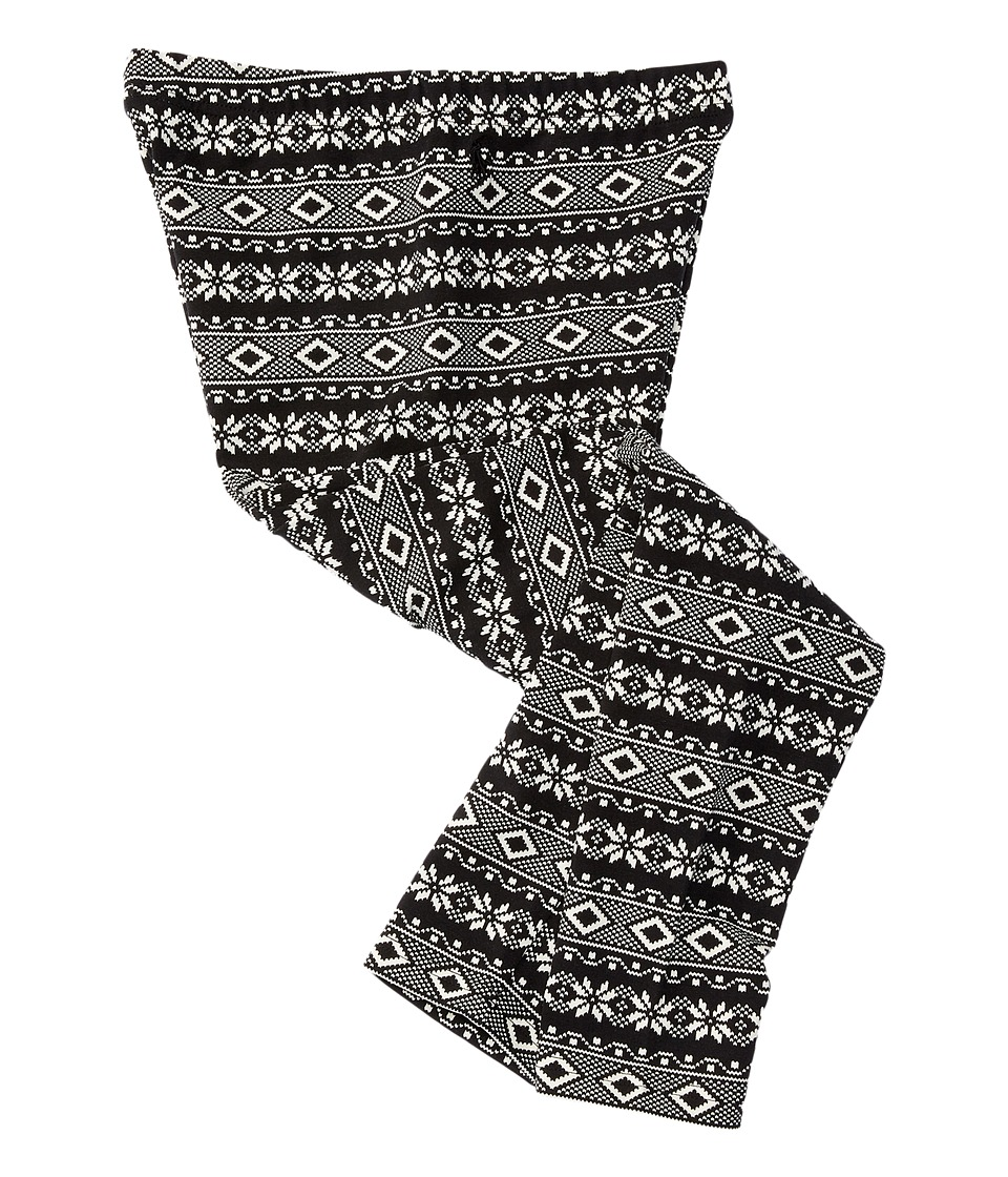 Polo Ralph Lauren Kids - Cotton Jersey Fairisle Buff Check Leggings (Toddler) (Black/Cream) Girl's Casual Pants