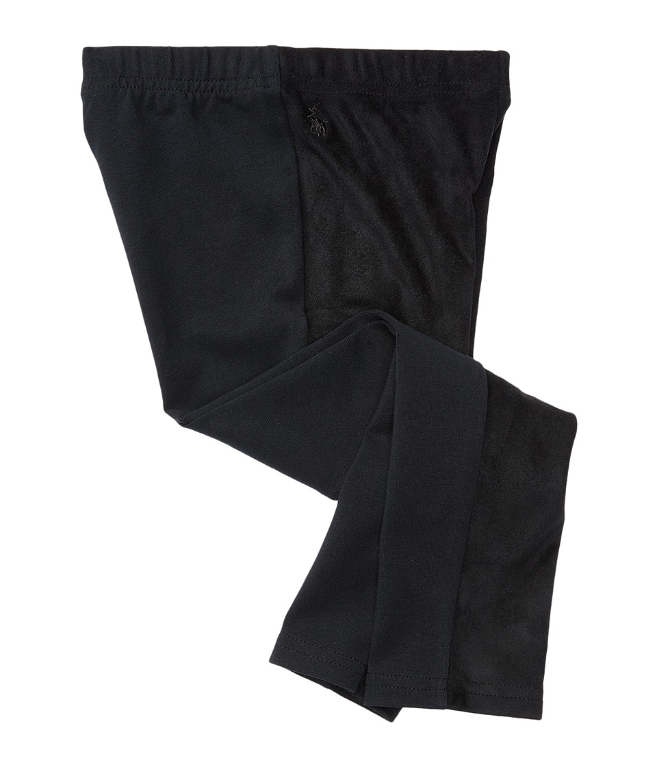 Polo Ralph Lauren Kids - Faux Suede Leggings (Toddler) (Collective Black) Girl's Casual Pants