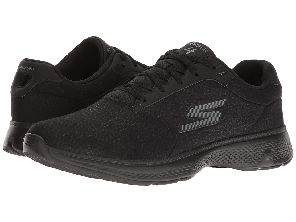 SKECHERS Performance - Go Walk 4 (Black) Men's Walking Shoes