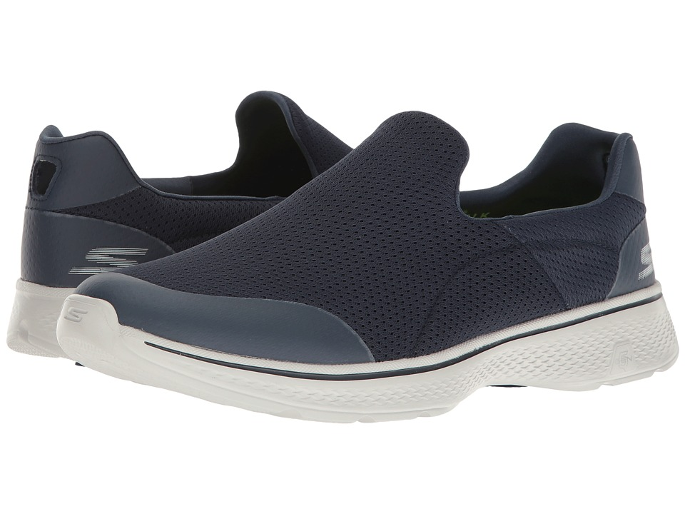 SKECHERS Performance - Go Walk 4 (Navy/Gray) Men's Shoes