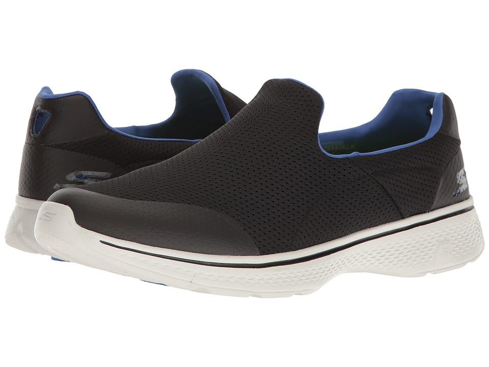 SKECHERS Performance - Go Walk 4 (Black/Blue) Men's Shoes