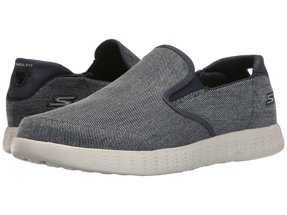 SKECHERS Performance - On-the-Go Glide (Navy/Gray) Men's Shoes