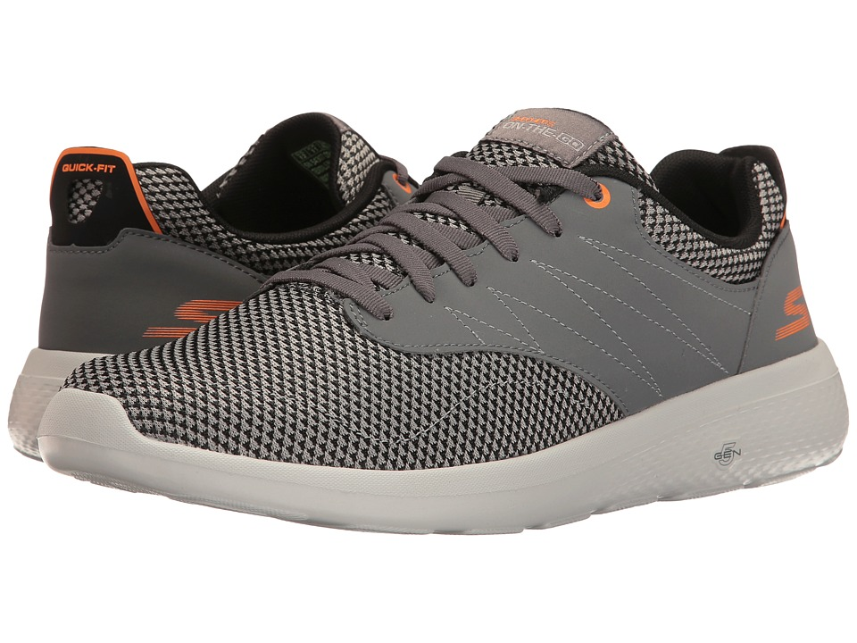 SKECHERS Performance - On-the-Go City 2 (Charcoal/Orange) Men's Shoes