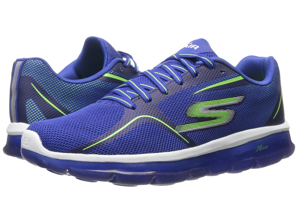 SKECHERS Performance - Go Air 2 (Blue/Lime) Men's Shoes