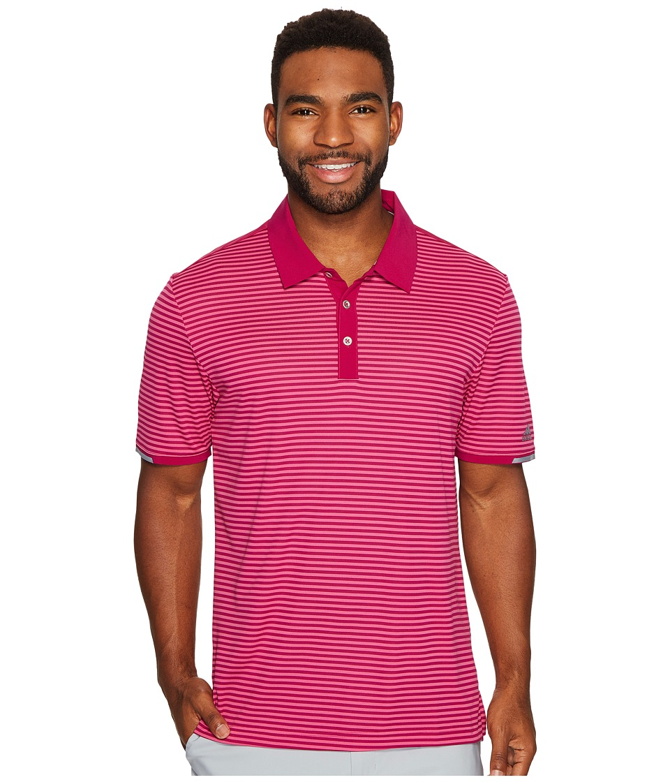 adidas Golf - climachill Tonal Stripe Polo (Ultimate Beauty) Men's Short Sleeve Pullover