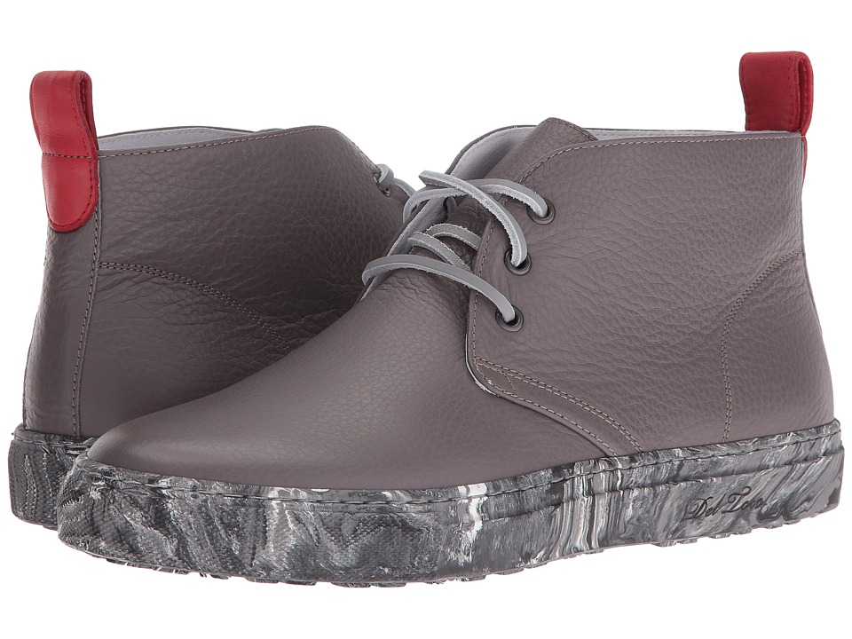 Del Toro - Leather Chukka Sneaker w/ Marble Sole (Grey/Marble) Men's Shoes