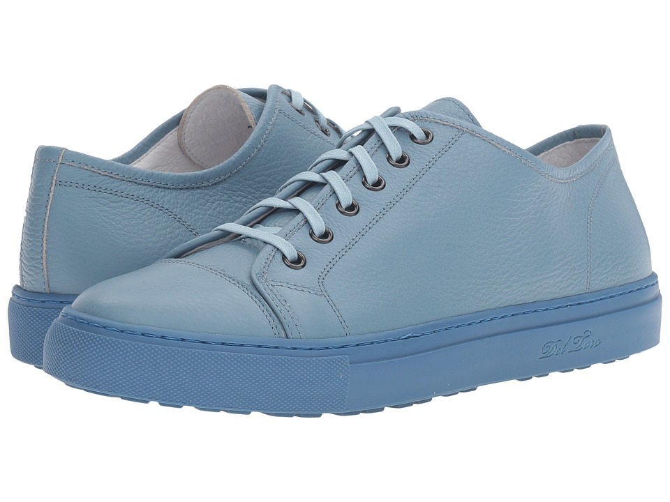 Del Toro - Sardegna Bottelato Leather Sneaker (Sky Blue/Sky Blue) Men's Shoes
