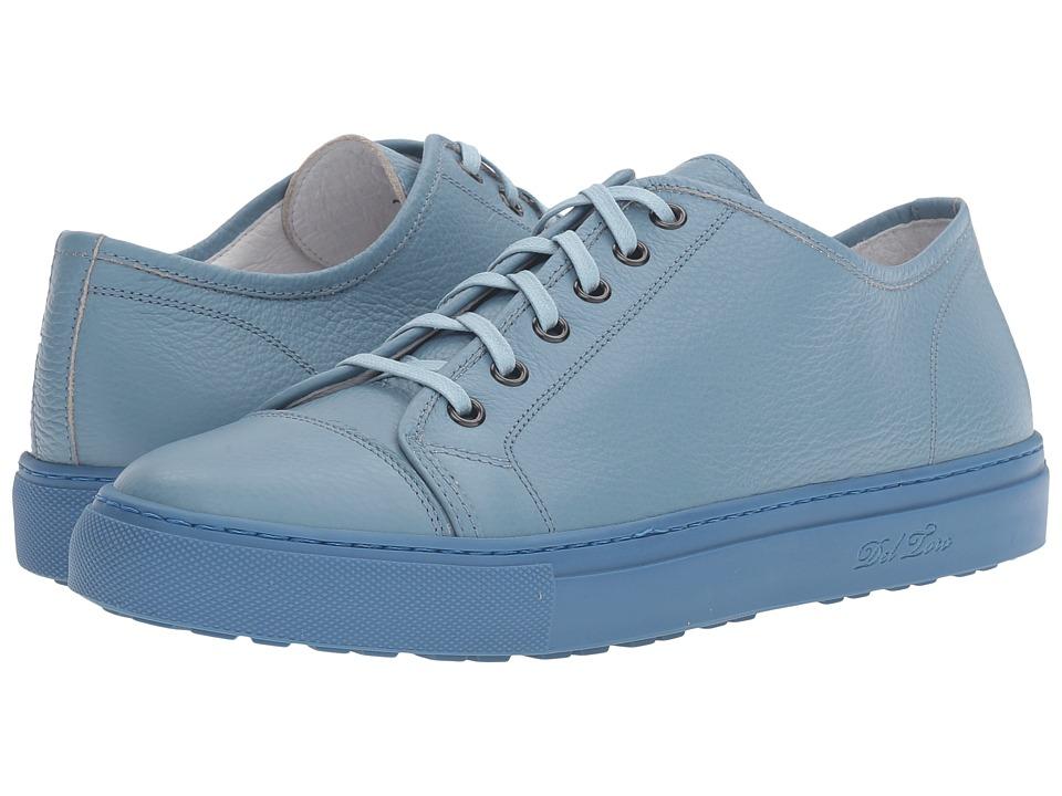 Del Toro - Sardegna Bottelato Leather Sneaker (Sky Blue/Sky Blue) Men's Shoes