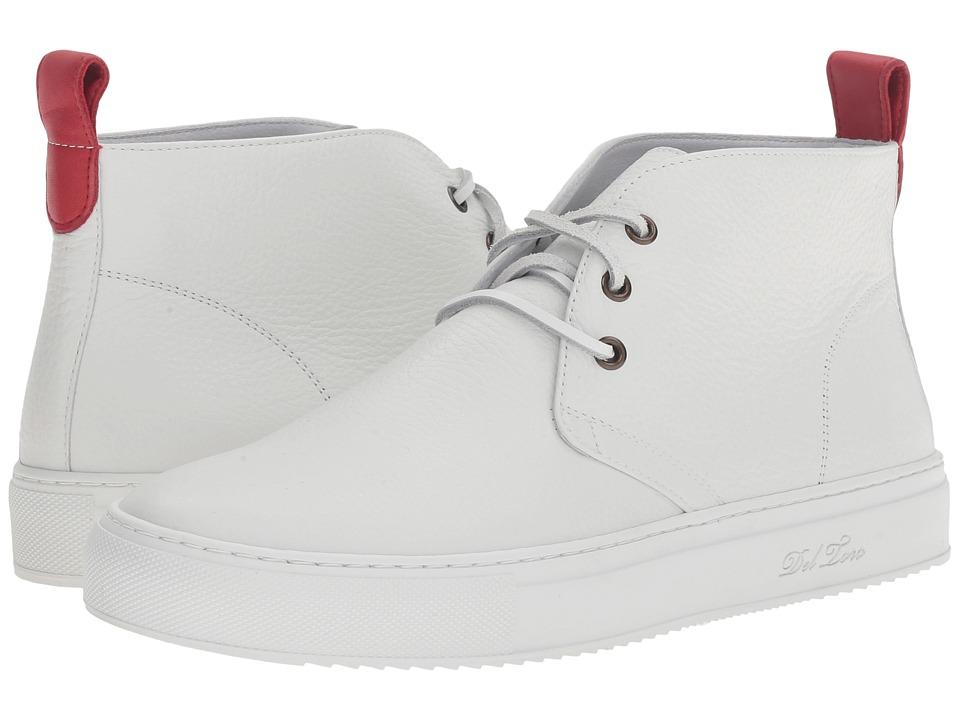 Del Toro - Bottelato Leather Chukka Sneaker (White/White) Men's Shoes