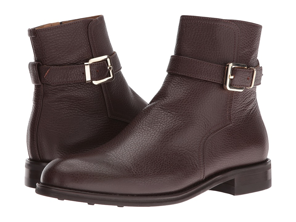Del Toro - Leather Zip Chelsea Boot (Brown) Men's Boots
