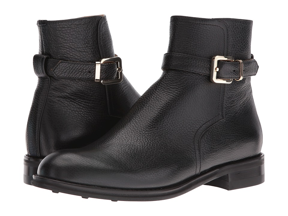 Del Toro - Leather Zip Chelsea Boot (Black) Men's Boots