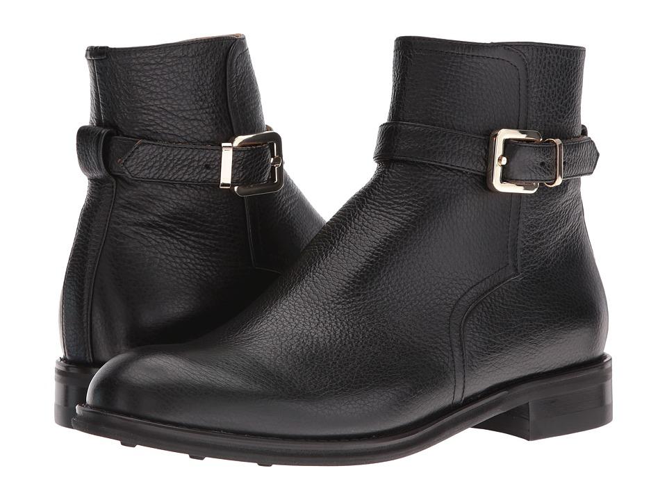 Del Toro - Leather Zip Chelsea Boot (Black) Men's Boots