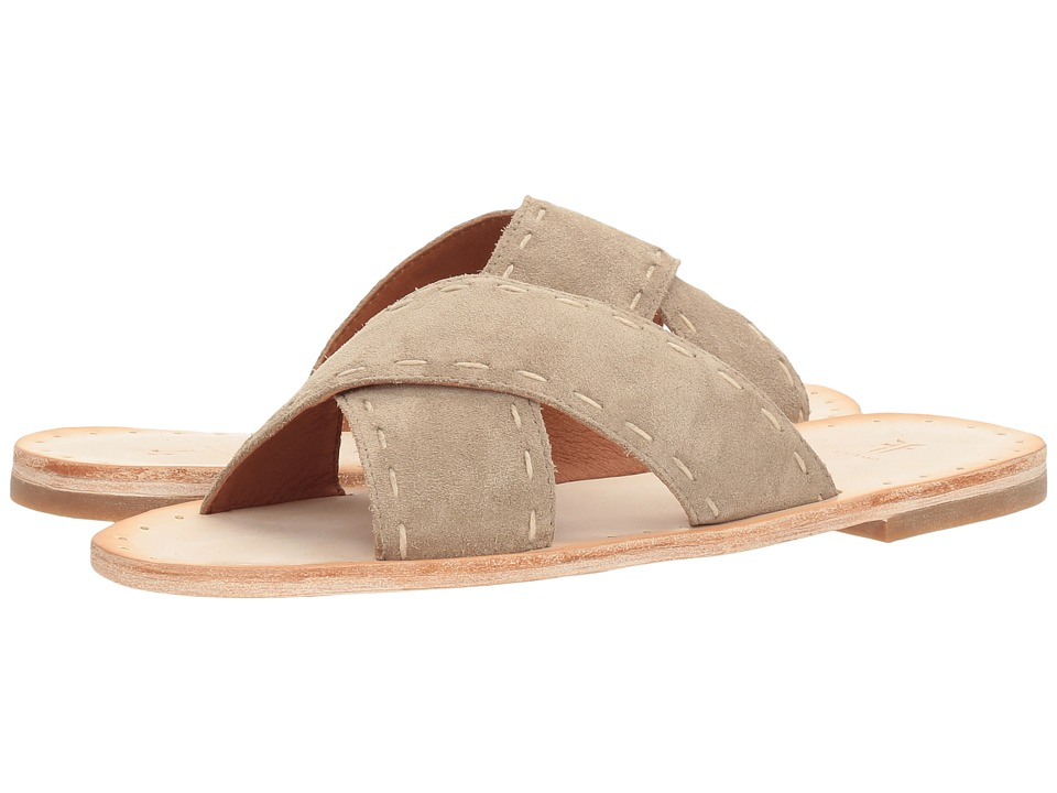 Frye Avery Pickstitch Slide (Ash Soft Oiled Suede) Women