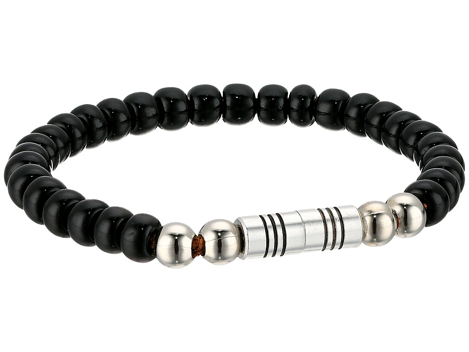 Torino Leather Co. - Czech Glass Beaded Bracelet (Black) Bracelet